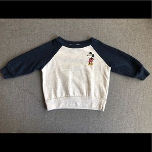 Mickey Mouse Ivory and Blue Sweater 18 Months